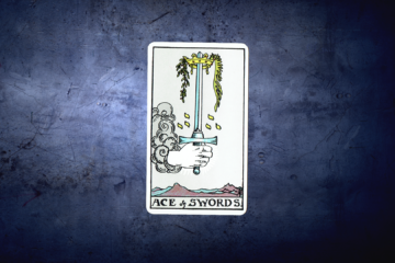 Ace of Swords - Rider Deck Blue Box